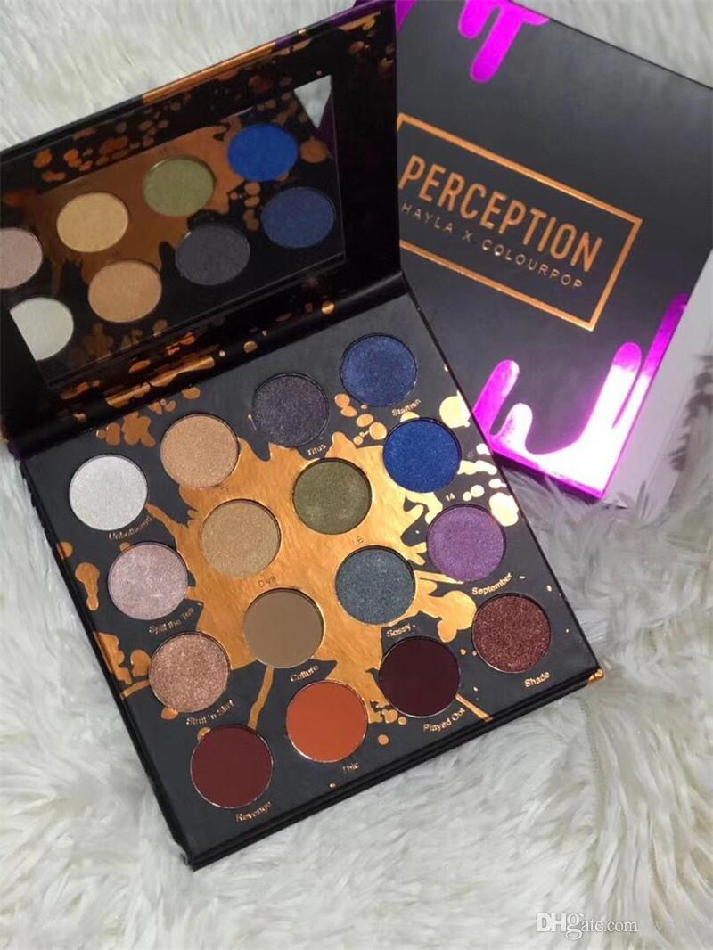 2018 PERCEPTION SHAYLA X COLOURPOP SHADOW PALETTE 16 COLORS Glitter Shimmer Eye Shadow Palette Makeup colour pop