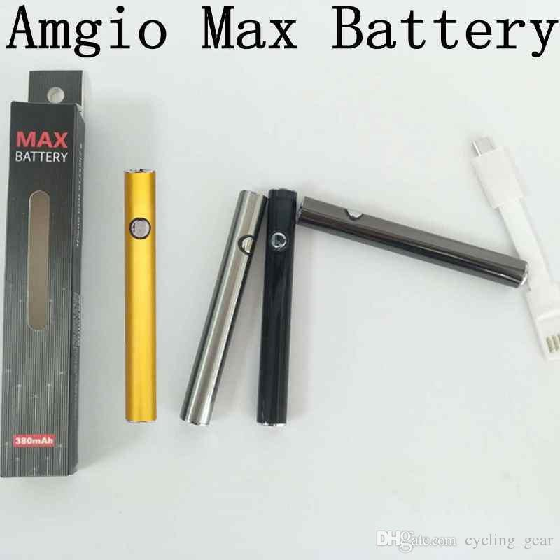 Amigo Max Preheat 510 Battery Vaporizer Pen Vape Pen Battery 380mAh Variable Voltage E Cigarette Vape Battery with LED Indicators