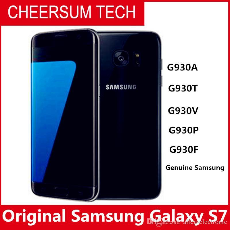 Original Samsung Galaxy S7 G930 impermeabile Cellulare 5,1 inch 4GB Quad ROM RAM 32GB core 2.3GHz 12MP 4G LTE sbloccato smartphone