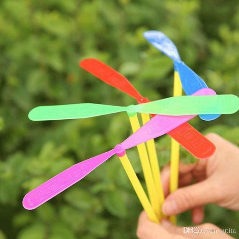 Assorted Color Plastic Helicopter Dragonfly Flying Spiral Arrows Kids Classic Toys Festive Birthday Party Favor Gift