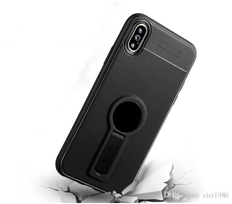 iFace tpu Little tail Shape Holder Magnetic Phone Case For IPhone x/xs xr max 6s 7 8 plus Samsung S9 Plus S8 plus Small tail Kickstand Cases
