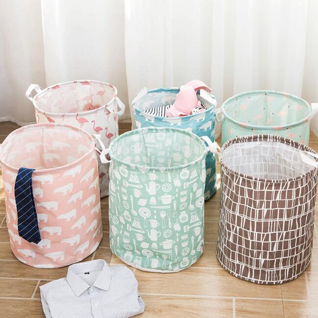Laundry Basket Bag For Toys Shark Design Cloth Folding Dirty Clothes Organizers