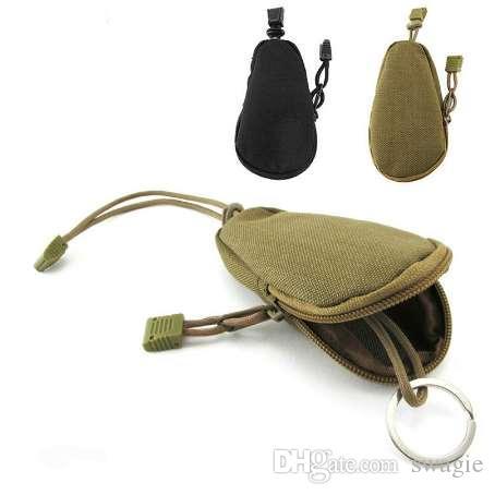 EDC Mini Key Portafogli Portamonete Portamonete Borsa militare Esercito Camo Bag Tasca piccola portachiavi con cerniera Custodia esterna Porta pacchetto!
