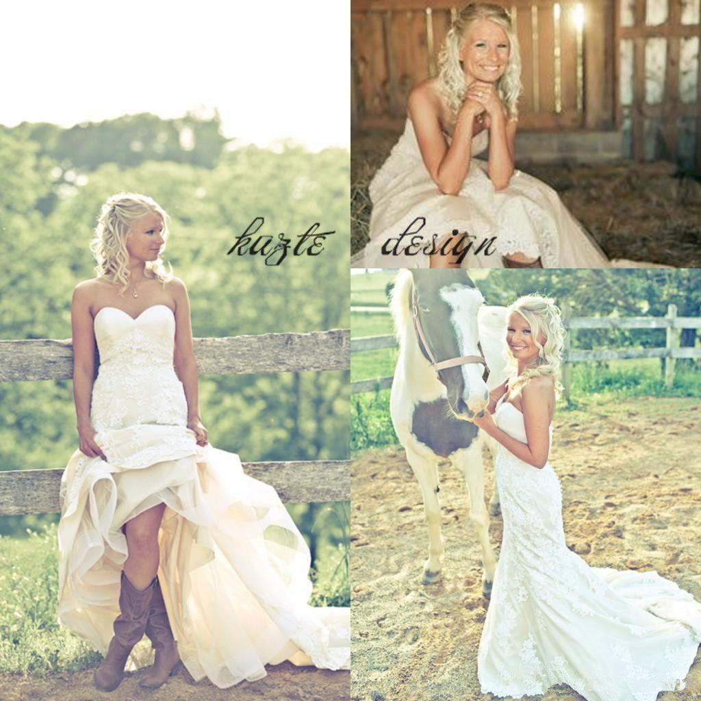 2018 Sweetheart Backless Country Wedding