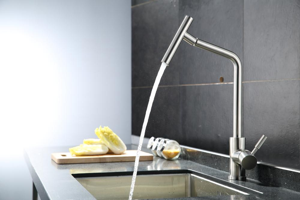 2019 Brushed Nickel Kitchen Faucet Modern Kitchen Mixer Tap, 304 Stainless  Steel 360 Degree Rotation No Lead Torneira De Cozinha From Galry, $149.99 |  ...