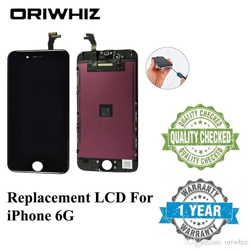 ORIWHIZ массовая цена качество для iPhone 6 6G LCD сенсорный экран дигитайзер Ассамблеи черный и белый цвет идеальный цвет упаковки микс принять
