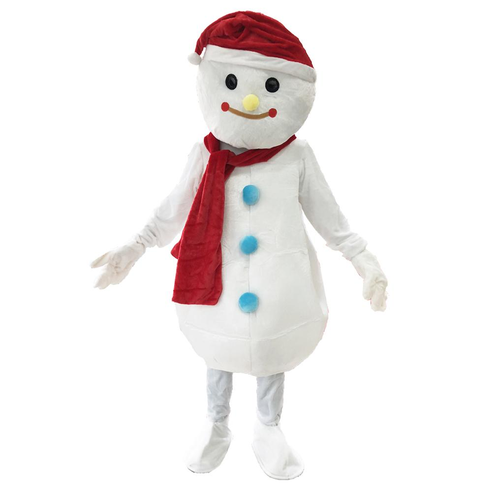 New Christmas Snowman Mascot Costume Christmas Costume Birthday Party Halloween Fancy Dress for Adult