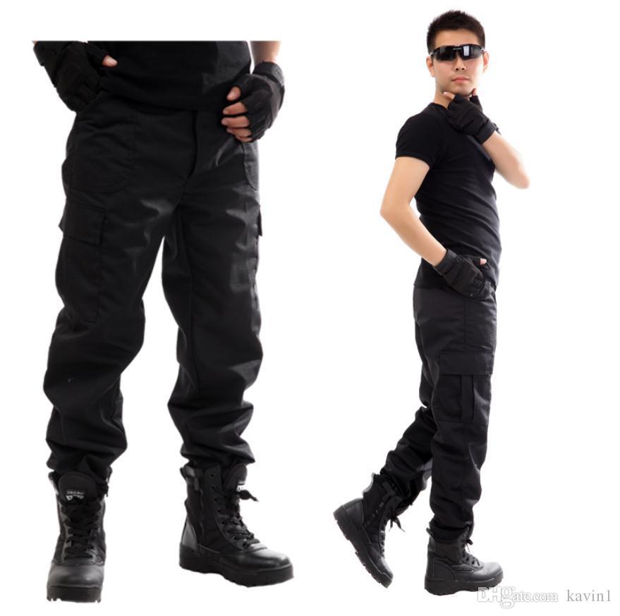Compre Alta Calidad 2018 Monos De Carga Ejercito Comando Militar Negro Recto Multra Bolsillo Pantalones Hombres M Xxxl A 14 49 Del Kavin1 Dhgate Com