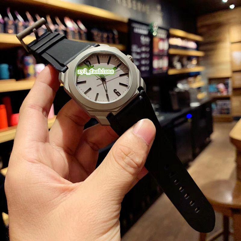 Благородный властный высокое качество мужские часы восьмиугольник дизайн корпуса часы OCTO серии 2813 автоматические механические спортивные часы размер 41 мм