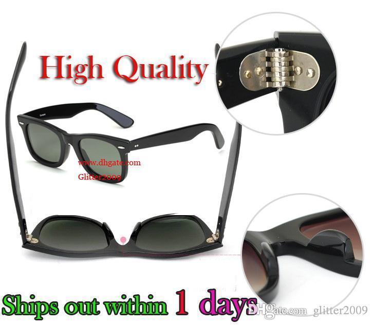 Ventes chaudes 100% protection UV lunettes de soleil de haute qualité Plank Mans noir lunettes de soleil en verre Lens Marque Designer lunettes de soleil Marque Lunettes de soleil boîte