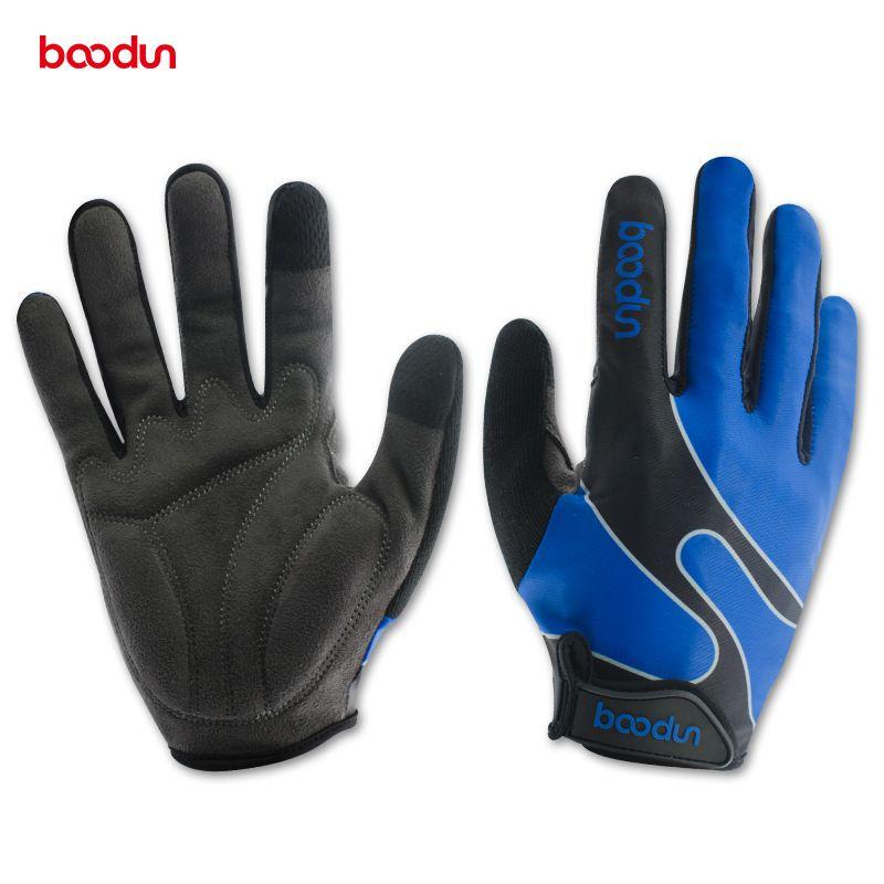 Marca guantes de bicicleta dedo completo a prueba de golpes MTB Road guantes de deportes al aire libre hombres mujeres guantes de running de invierno Guantes de portero