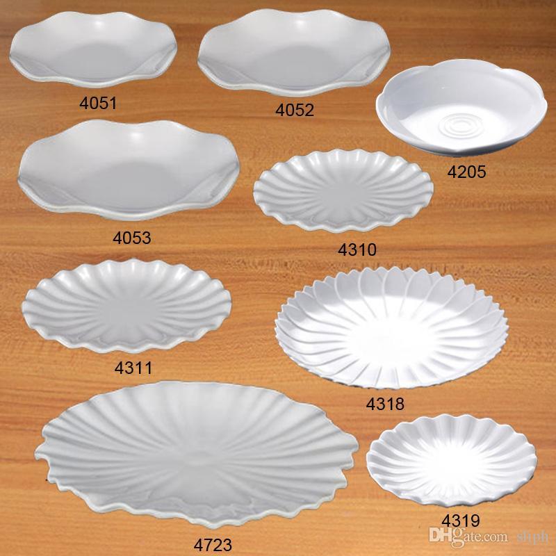 Taklit Porselen Melamin Yemek Takımları Dinne Pleyt Şerit Plaka Melaminli Bulaşıklı Şık Restoran A5 Melamin Sofra Takımı