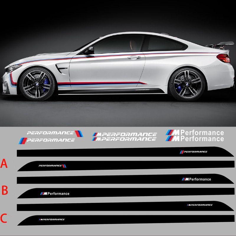 205 CM 80.7 pollici M PERFORMANCE Adesivi laterali carrozzeria per BMW X1 X3 M3 Serie M5 Adesivi personalizzati Car Styling