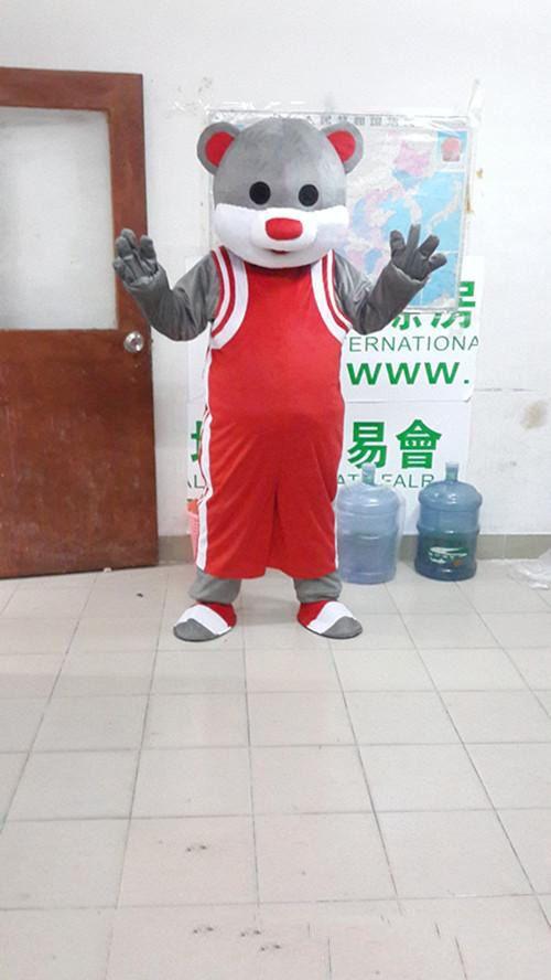 2018 oso encantador traje de la mascota linda fábrica de ropa de dibujos animados personalizada personalizada apoyos caminando muñecas ropa de la muñeca