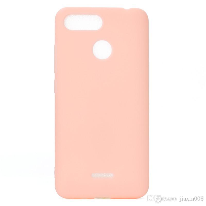 Şeker Renk Kapak Için Xiaomi Redmi 6 Kılıf Yumuşak TPU Ultrathin Tasarımcı Mobie Telefon Kılıfları Capinha