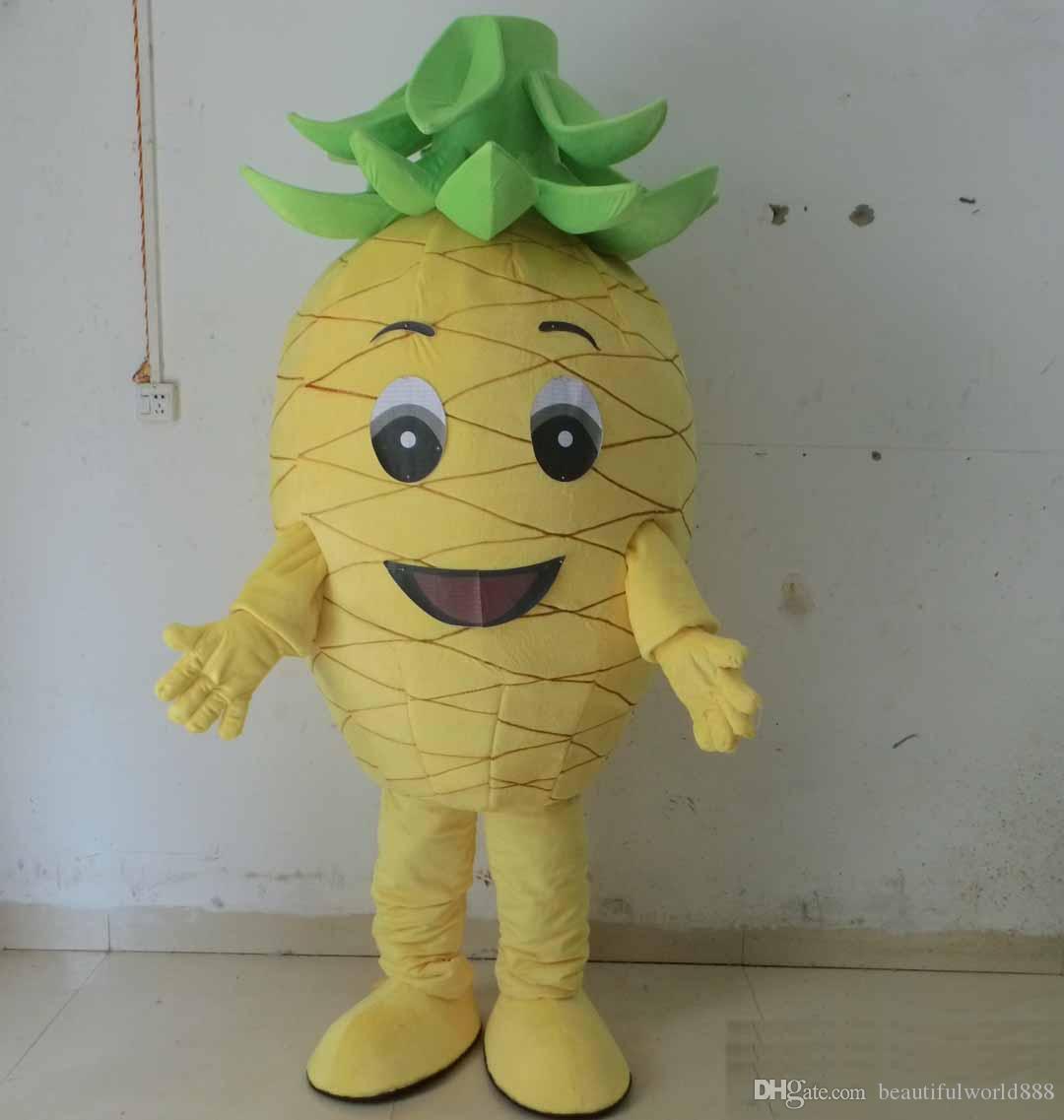 2018 wysokiej jakości gorące żółte kostiumy maskotki z ananasa dla dorosłych do noszenia na sprzedaż