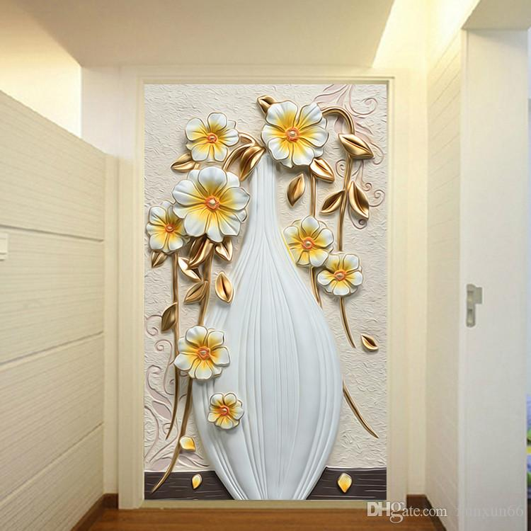 3D murales carta da parati vaso bianco Fiore 3d murales Carta da parati per soggiorno foto murales papel de parede