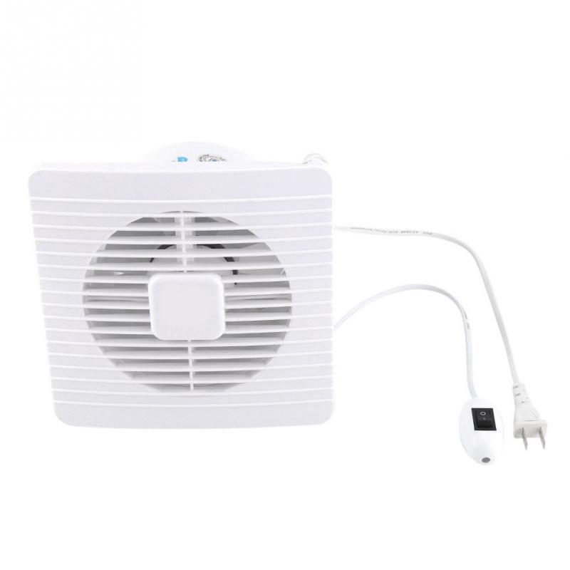 20W 220V 벽 마운트 배기 팬 낮은 소음 홈 욕실 부엌 차고 공기 환기 환기 2018
