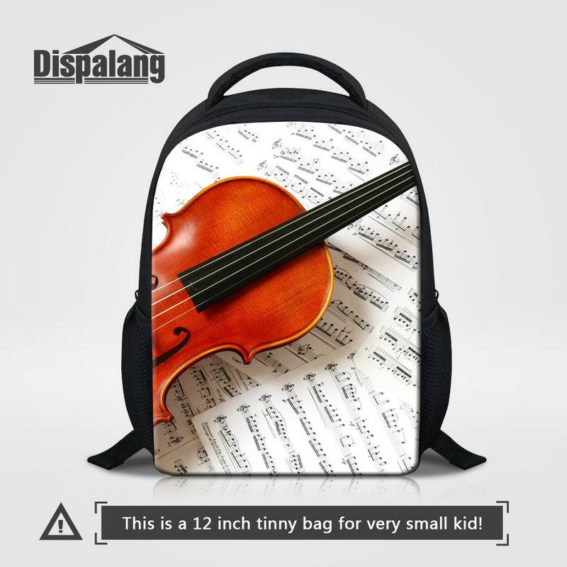 Violin Printing Kids Kindergarten Backpacks For Girls Boys Top Quality School Bag Bookbag For Children Mini Bagpack For Traveling Sac A Dos