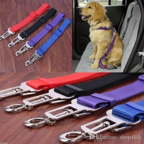 Nylon Cat Dog Pet Safety Car Vehicle Strap Seat Belt Adjustable Harness Lead