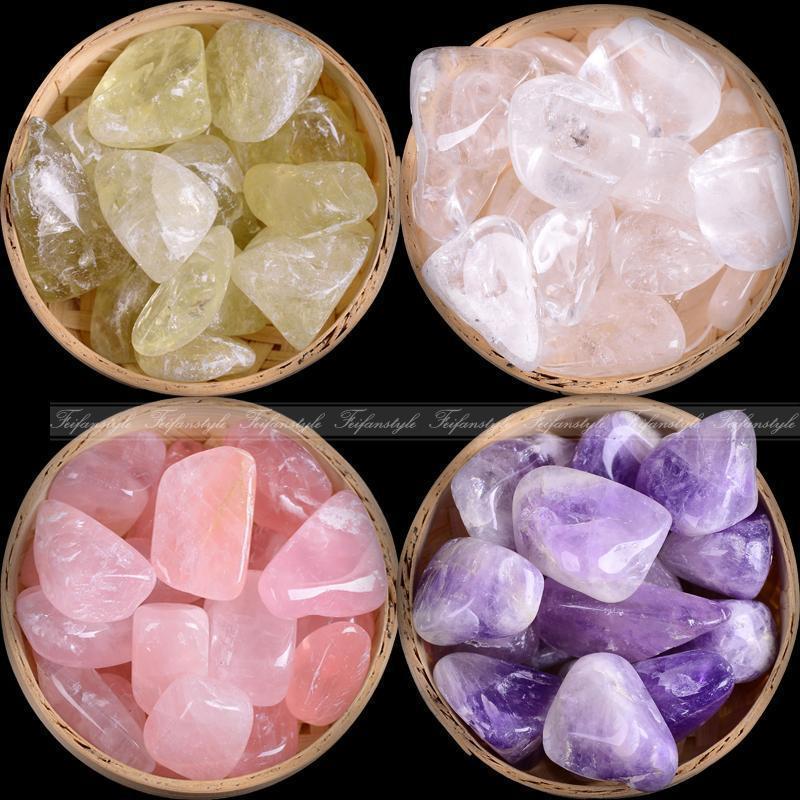 200G Natural Pink Cuarzo Cristal Amatista Piedra Papachas de roca Espécimen Curación A172 Piedras naturales y minerales