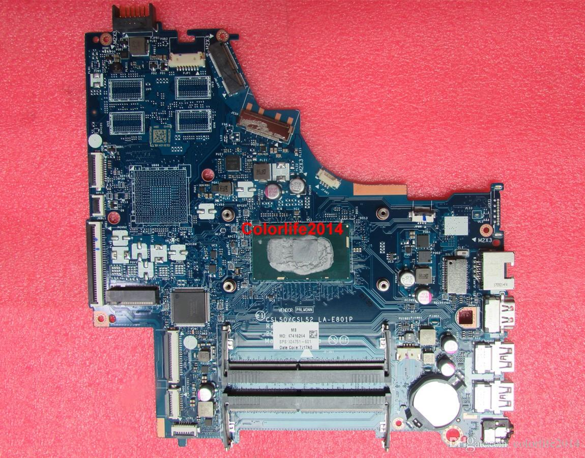 for HP 15T-BR000 15-BS Series 924751-601 UMA i5-7200U LA-E801P Laptop Motherboard Mainboard Tested
