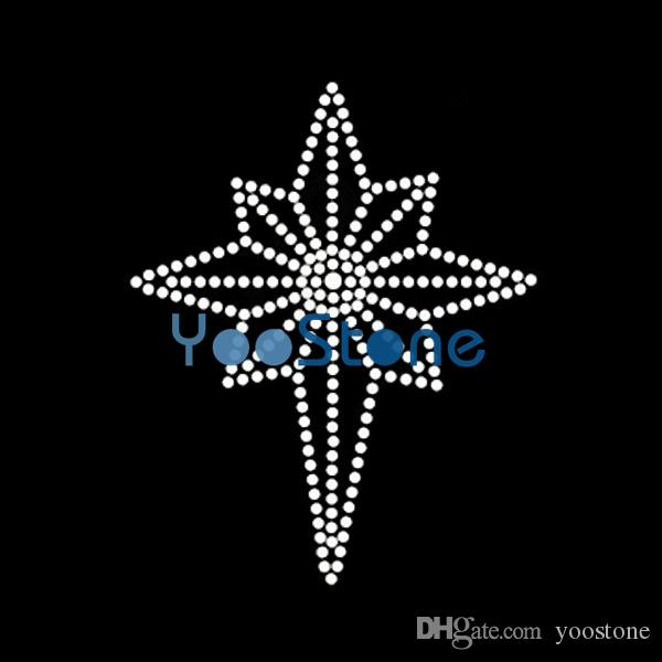 eight point Pocket Symbol Rhinestone Iron On Transfer Hot Fix Wholesale For Garment Accessories