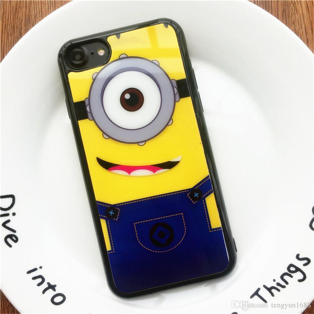 Para Iphone 6 / 6s / 6 plus / 6s plus / 7/8 Case, personaje de dibujos animados 2 pintura de dibujos animados espejo Thin Tpu Phone Case