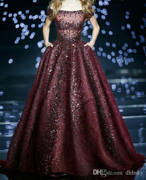 Evening dress Yousef aljasmi Kim kardashian Off-Shoulder Crystal Ball gown Almoda gianninaazar ZuhLair murad Ziadnakad