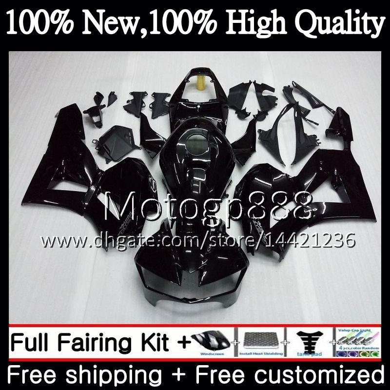 HONDA CBR600RR F5 için enjeksiyon 13 14 15 16 17 Parlak siyah 62PG5 CBR 600RR 600 RR F5 CBR600 RR 2013 2014 2015 2016 2017 Fairing Karoser