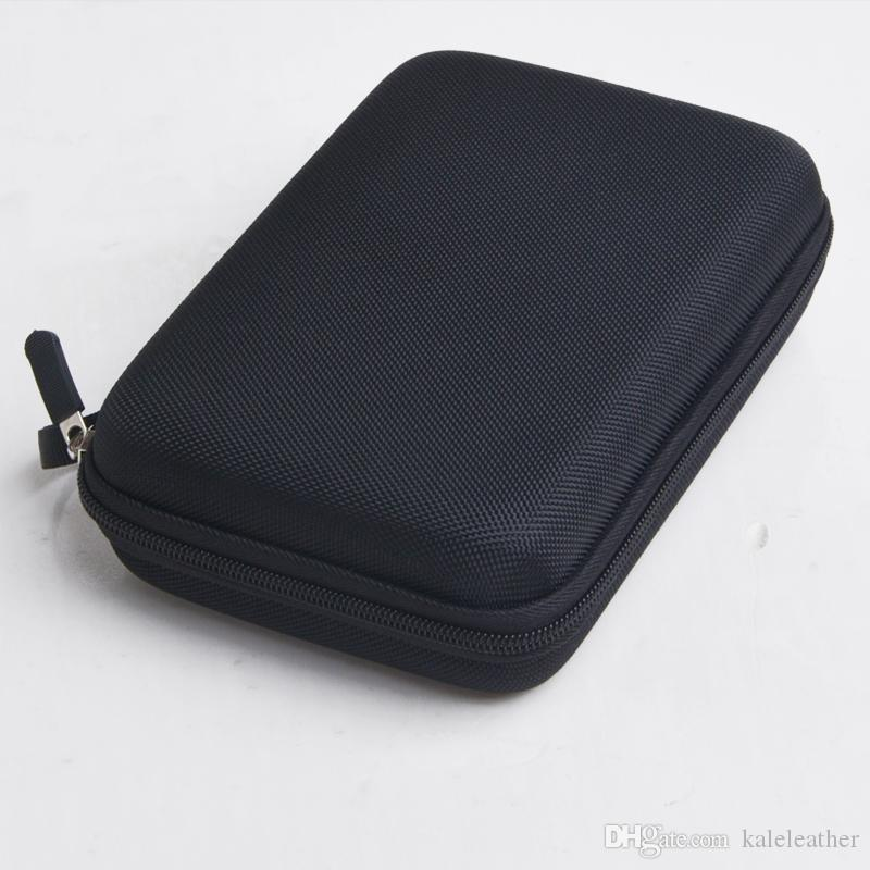 Wodoodporny Zipper Zipper Outdoor Hard Eva Small Cular Case Posiadacza Podróży Cygara Huidor Box Storage Studce Black