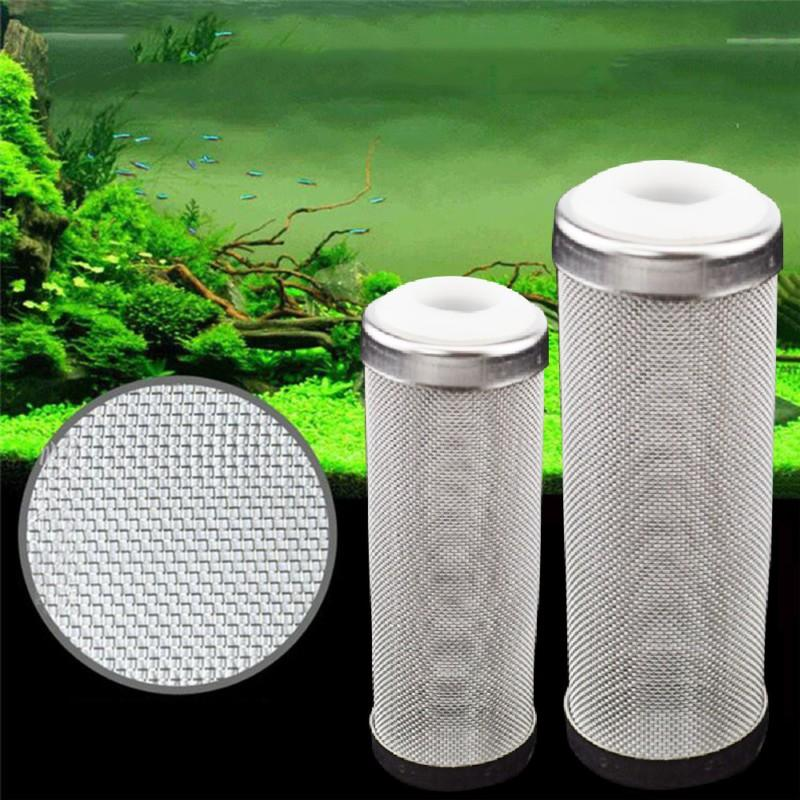 Paslanmaz Çelik Filtre Akvaryum Karides Silindir Akvaryum Fish Tank Net Mesh Aksesuarları Balık Sucul Için Filtre