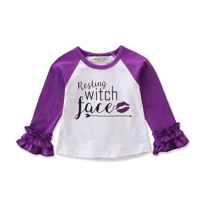 Mode Halloween T-Shirts Kinder Baby Jungen Mädchen Drucken Neugeborenen Kinder Langarm T-Shirt Kinder Baumwolle Kleidung