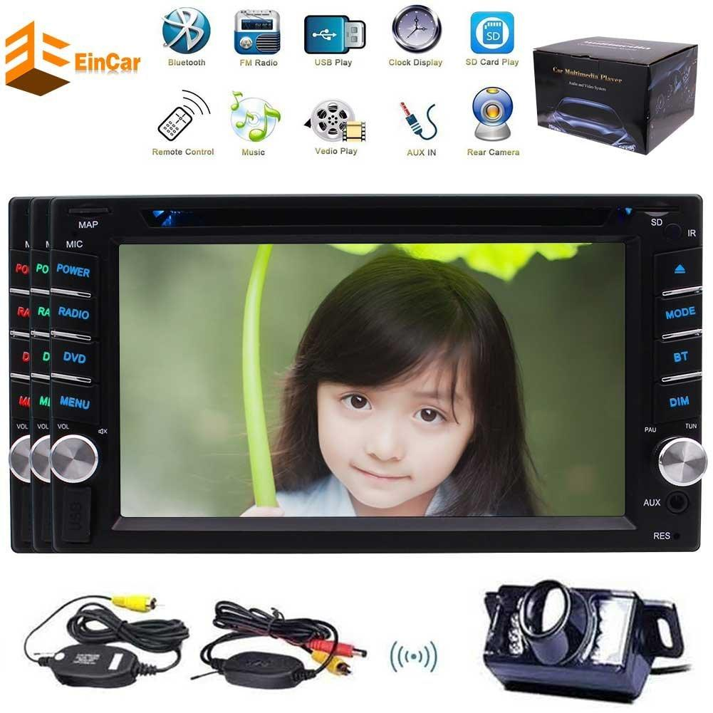 Wireless Camera 6.2'' Car DVD Player Autoradio Bluetooth 2DIN USB SD Aux Wince Multimedia system FM Receiver Car MultiLanguage SWC Subwoofer