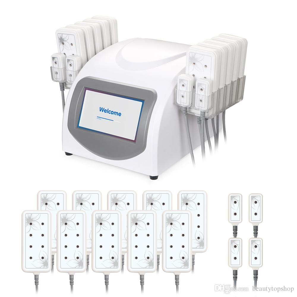 5 МВт лазер LiPo тела уменьшая, удаления целлюлита формы тела красоты спа машина с 14 колодки