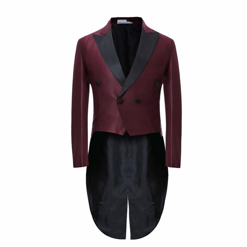 2017 Long Tuxedo Jacket Slim Men Suit Evening Stage Formal Dress Suits For Man Costume Blazer Plus Size