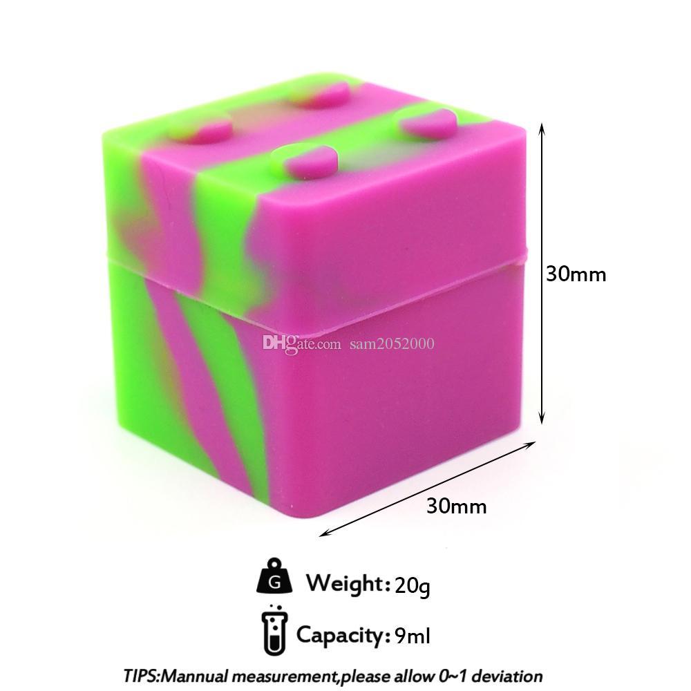 100倍のスタックブルE-Cigアクセサリーノンスティックシリコーンジャーダブワックス気相器オイルコンテナ30x30mm