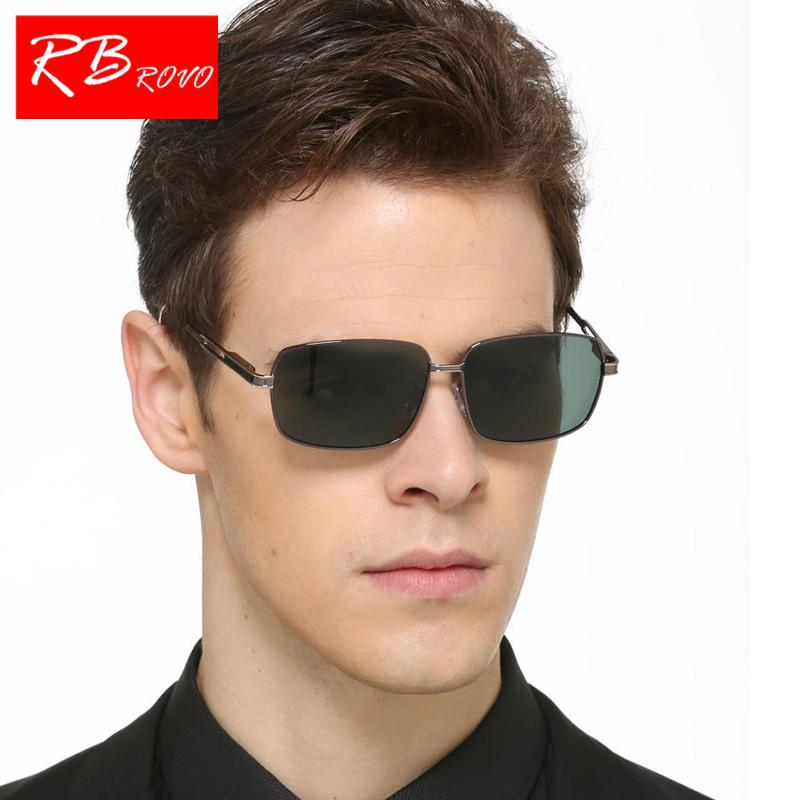 RBROVO Fashion Polarized Square Sunglasses Men HD Glasses Gafas Metal Brand Design Shopping Party Glasses For Men UV400