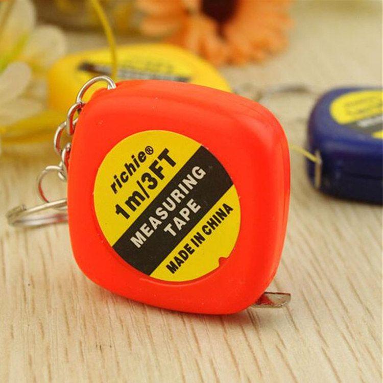 New 1 meters small tape measure soft tape portable mini key buckle measuring tape, small gift pendant portable tape