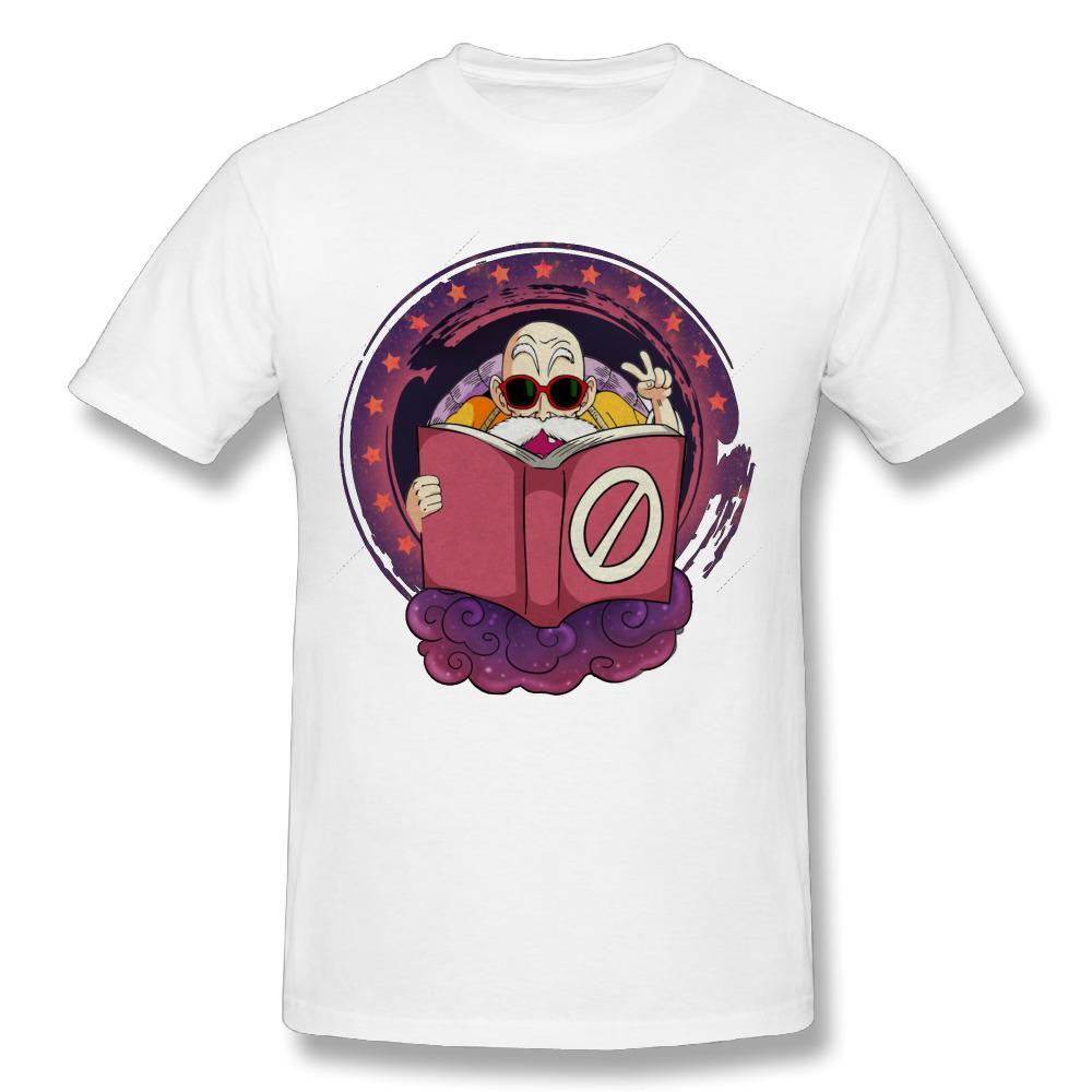 Dragon Balee Master Roshi 2018 Nueva llegada Hombre camiseta Cuello redondo Diseño de camisetas Streetwear Camiseta Niza camisetas