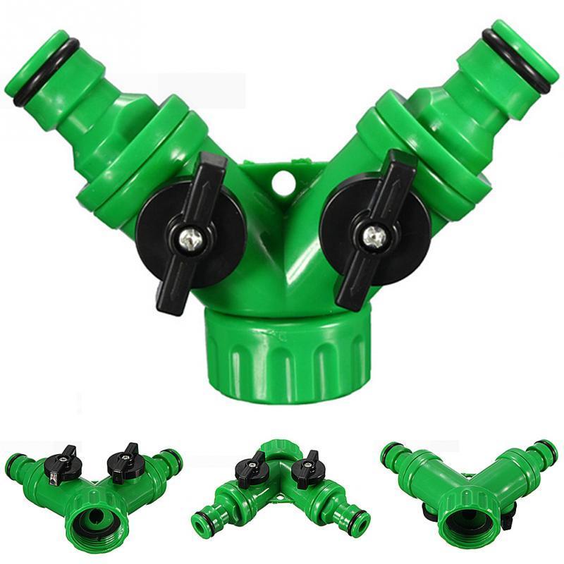 Yüksek Kalite ABS Plastik Hortum Boru Aracı 2 Yollu Konnektör Adaptörü 2 Yollu Musluk Bahçe Hortumları Borular Bölücülerin