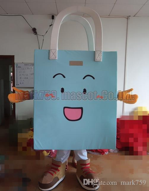 blue bag mascot costume Free Shipping Adult Size,handbag luxury plush toy carnival party celebrates mascot factory sales.