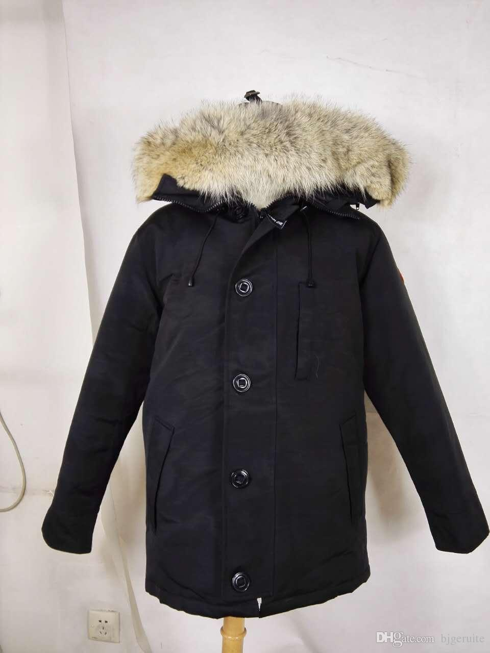 b4ab5afe460 2019 2018 Brand New Big Coyote Fur New Mens Thick Down Canada Style CHATEAU  Parka Coat Winter Warm Jacket 30 Degree From Bjgeruite, $159.4   ...