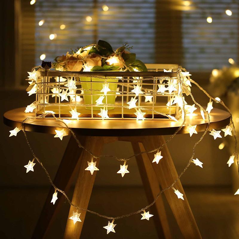 Christmas Led String Lights.6m Diy Fairy Christmas Led String Lights Festival Decoration Snow Lights Tree Garland Christmas Tree Home Ornament Cheap Christmas Decorations For