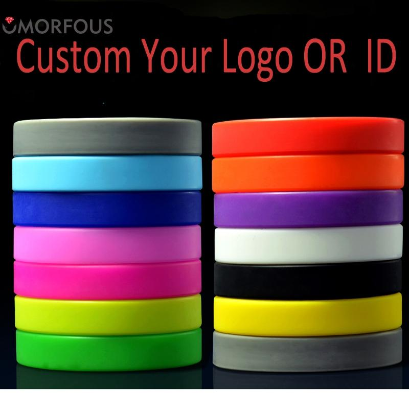 ID Bracelets Custom Your Logos Silicone Wristband For Adults/Kids Company Event