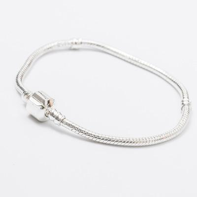 Mix Size Plated Silver Retro Bracelet 17CM-23CM Snake Chains DIY Jewelry Accessories Fit European Style Beads Wholesale DHL Free