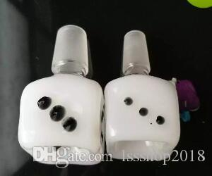 White jade dice bubble head Wholesale Glass Hookah, Glass Water Pipe Fittings, Free Shipping