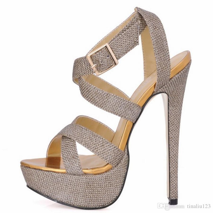 chaude nouvelle femme 2018 sandales à talons sexy talons à lanières croisées dames du parti de bal robe d'été plate-forme pompes en cuir verni chaussures
