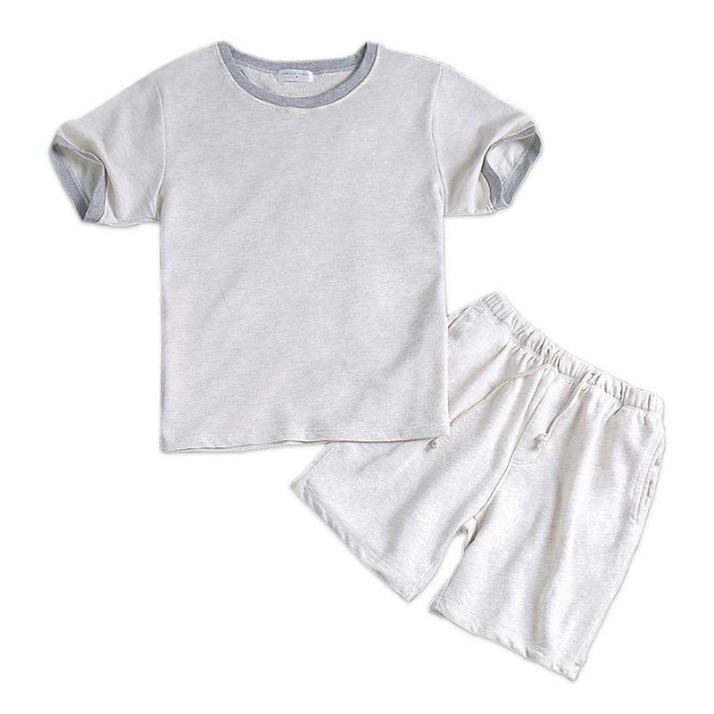 Estate 100% cotone bianco maschio breve pigiama set maniche corte uomo pigiameria casual homewear semplice pigiama bianco loungewear