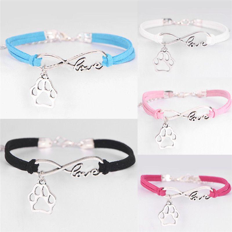 Fashion Charm Pet Dog Lover Cat Animal Infinity Link, Chaîne